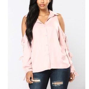 Pink button down. Size 1x